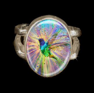 Hummingbird Magic Energy Ring