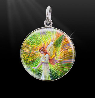 Angel Of Patience  Silver Energy Charm