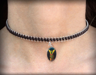 Phoenix Rising- Energy Charm Necklace - Choker
