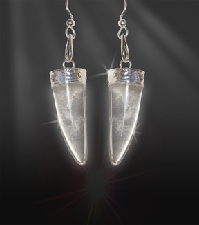 "Quartz Horn ""Girl Power""  Energy Earrings"
