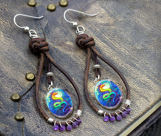 "Dragon's Moon ""Thousand Prayer"" Earrings"