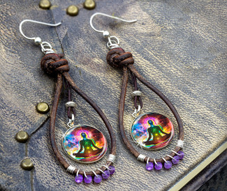 "Chakra Healing  ""Thousand Prayer"" Earrings"