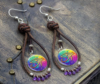 "Eye Of Horus  ""Thousand Prayer"" Earrings"