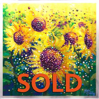 Sunflowers Life-Joy  Original Energy Painting