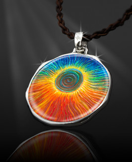 "The Eclipse ""Spiritual Jump Start""  Energy Pendant  From the ""New Bohemian"" Collection"