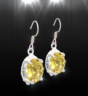 "The ""Confident Woman"" Citrine Empowerment Earrings"