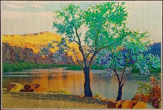 Desert Oasis.  Original energy painting.