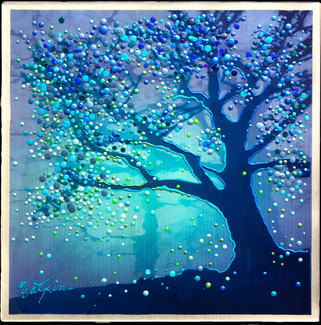 The Firefly  Tree   - Original energy painting