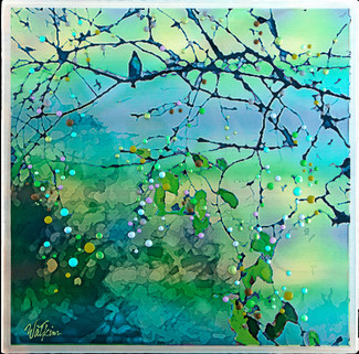 Bluebird Morning Song - The Promise Of New Beginnings   - Original energy painting