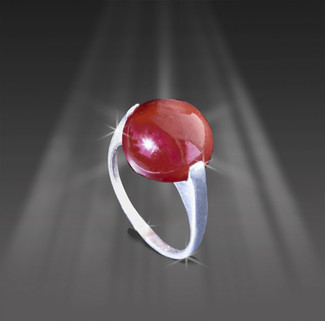Hessonite Garnet Ring Of Success, Longevity And Wisdom - Beautiful 15 Carat Stone