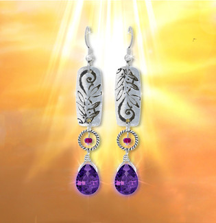 """Discover Your Truth"" Energy Earrings - Facilitate your journey of self discovery."