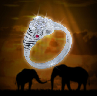 "Indian Elephant God ""New Beginnings"" Success Ring - Paves the way for success and prosperity in whatever you try."