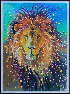 Lion Heart   - Original energy painting
