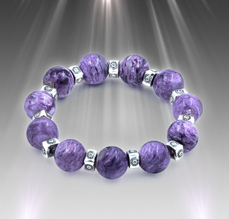 Mind Calming Charoite Energy Bracelet For Women. Disperses your worries to the four winds.