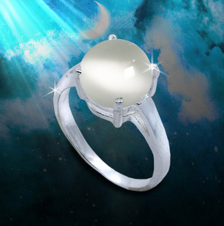 Cat's Eye Moonstone Traveler's Protection Ring