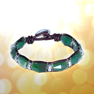 Canadian Jade Wealth & Good Health Bracelet - Guaranteed authentic stones