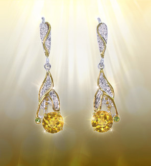 The Golden Falls Citrine Earrings - Helps confidence, health and abundance flow back into your life.