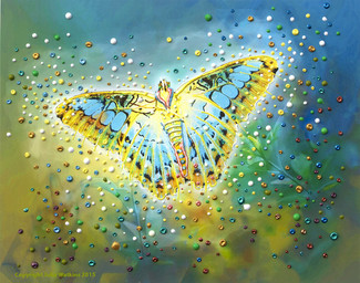 The Magic Butterfly Energy Painting - Giclee Print