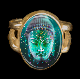 The Jade Buddha Good Luck Energy Ring