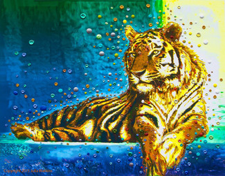 Temple Tiger – Your Personal Spiritual Guardian & Protector - Gicleee Print