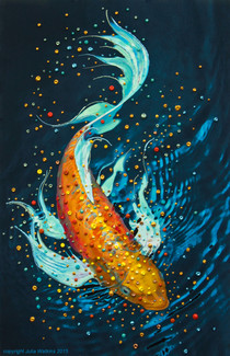 The Money Fish Wealth And Abundance Painting - Giclee Print