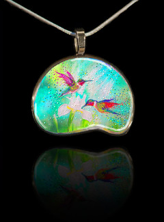 Hummingbirds – Good Luck Totem Pendant