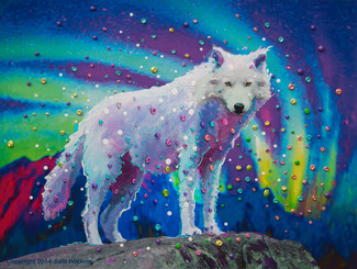 White Wolf Spirit Guide Gicleee Print - Museum Quality