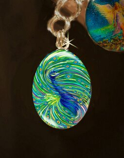 "Peacock ""Bodhisattva Awakening"" Energy Charm"