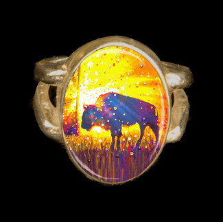 "Sacred Buffalo ""Easy Abundance"" Energy Ring"