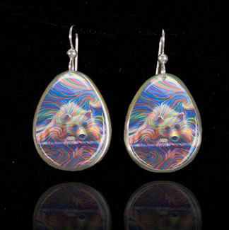 Medicine Bear Earrings - Bringer of strong medicine magic