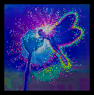 "Blue Dragonfly  - Emits powerful ""life-force"" energies - Giclee Print"