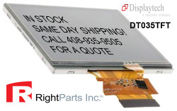 DT035TFT 3.5'' TFT LCD Display Module with a 320RGB x 240DOTS resolution. The driver can display 16.7M colors.