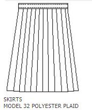 Christopher  Plaid P1B Knife Pleat Skirt