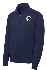 Sport Tek Fleece Full Zip Jacket w/Logo.  This warm, light weight jacket can be worn on informal days.