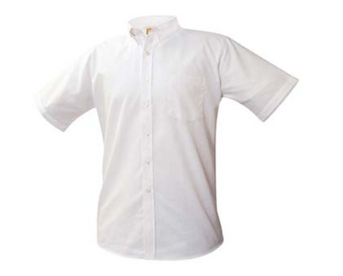 A+ White Oxford Short Sleeve