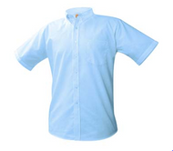 A+ Male Blue Oxford Short Sleeve