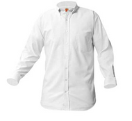 A+ White Oxford Male Long Sleeve