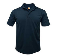 PO A+ Navy Unisex Polo Moisture Wicking Short Sleeve with Logo