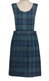 Sacred Heart Plaid Knife Pleat Pinafore