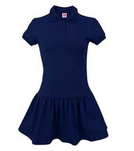 A+ Jersey Knit Dress Navy