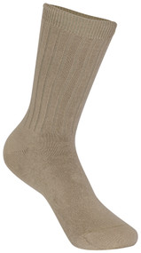 Classroom Unisex Ribbed Crew Socks (3pack) Khaki