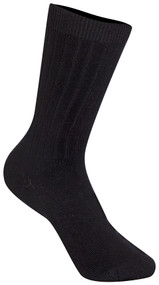 Classroom Unisex Ribbed Crew Socks (3pack) Black