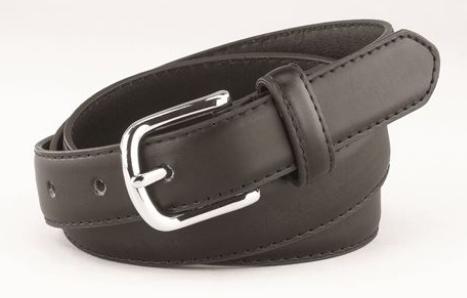 """EeDeeTrim 1"""" Leather Belt Black"""