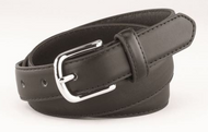 "EeDeeTrim 1"" Leather Belt Black"
