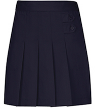 Classroom Adjustable Waist Pleated Tab Scooter Navy