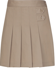 Classroom Adjustable Waist Pleated Tab Scooter Khaki