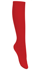 Classroom Female Cable Knit Knee-High Socks (3pk) Red
