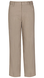 Classroom Slim and Husky Flat Front Adjustable Pants Khaki