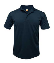 Dry-Fit Moisture-Wicking Jersey Polo Navy with School Logo