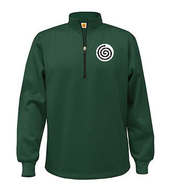FL A+ Quarter-Zip Performance Fleece Pullover Dark Green with Required Logo